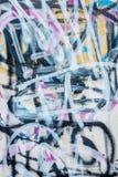Abrégé sur graffiti sur le mur en béton Images libres de droits