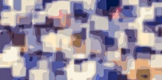 Abrégé sur jaune et rose bleu peinture illustration libre de droits