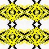 Abrégé sur jaune modèle géométrique Photographie stock libre de droits