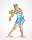 Abrégé sur joueur de volleyball illustration libre de droits