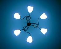 Abrégé sur léger lampe Image stock
