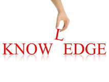 Abrégé sur la connaissance avec des chemins de découpage Photo libre de droits