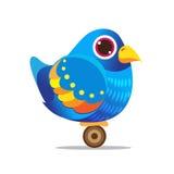 Abrégé sur mignon bande dessinée d'oiseau bleu Images libres de droits