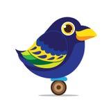 Abrégé sur mignon bande dessinée d'oiseau de corneille Images libres de droits