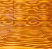 Abrégé sur mur de modèle de jaune orange de vague Photos stock