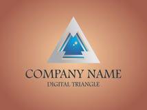 Abrégé sur numérique triangle de logo courant Image stock