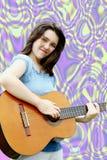 Abrégé sur onMusic guitare Photographie stock
