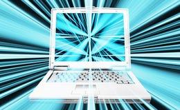 Abrégé sur ordinateur portatif Images libres de droits