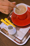 Abrégé sur pause-café photo libre de droits