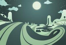 Abrégé sur paysage de nuit Photos stock