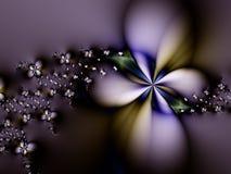 Abrégé sur pourpré fleur Image stock