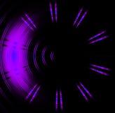 Abrégé sur pourpre lampe au néon de cercle Image libre de droits