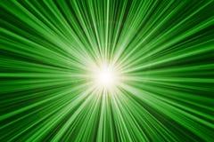 Abrégé sur rapide vert effet de la lumière de vitesse de mouvement de bourdonnement Images stock