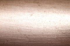 Abrégé sur rayé par métal de cuivre texture de fond Image libre de droits