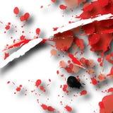 Abrégé sur rouge éclaboussure Photo libre de droits