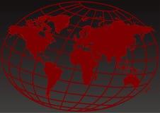 Abrégé sur rouge la terre illustration de vecteur