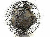 Abrégé sur sphère de Rusty Gun Metal 3D Illustration de Vecteur