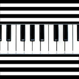 Abrégé sur Stripy piano Images stock