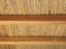 Abrégé sur toit de canne Photographie stock