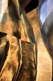 Abrégé sur tordu en métal Photo stock