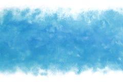 Abrégé sur vague d'eau bleue d'été ou fond de peinture d'aquarelle de vintage Images stock