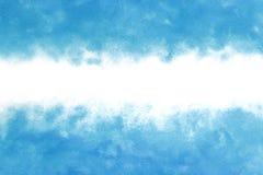 Abrégé sur vague d'eau bleue d'été ou fond de peinture d'aquarelle de vintage Photographie stock libre de droits