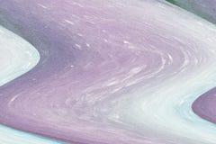 Abrégé sur vagues lilas et vertes dans tonalités lilas Photographie stock libre de droits