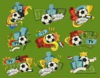 Abrégé sur vecteur du football illustration de vecteur