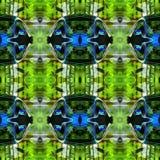 Abrégé sur vert modèle géométrique Photographie stock libre de droits