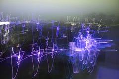 Abrégés sur légers Digitals et taches floues créatrices Image libre de droits