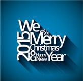 Abrégez la carte de Noël de typographie de vecteur Photographie stock libre de droits