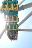 Abrégez la tache floue de montagnes russes Photographie stock libre de droits
