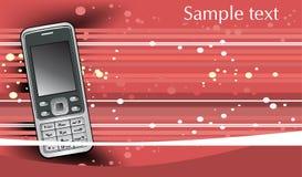 Fond abstrait avec le téléphone portable mobile Photos libres de droits
