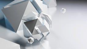 abrégez le fond Belles pierres étrangères avec la fusée de lentille Images stock
