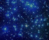 abrégez le fond cercle abstrait bleu d'image tramée de bannière Photos libres de droits