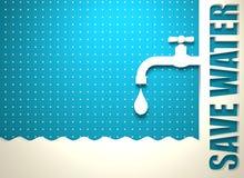 abrégez le fond Concept de conservation de l'eau illustration libre de droits