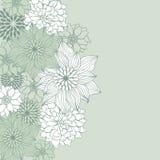 Abrégez le fond floral Élément de fleur de vecteur illustration libre de droits