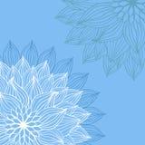 Abrégez le fond floral Élément de fleur de vecteur illustration stock