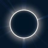 abrégez le fond Néon rond Éclipse avec l'illust de vecteur de rayons Images stock