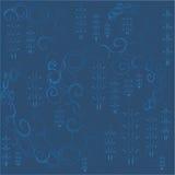 abrégez le fond Remous bleu-clair et arbres de Noël avec un gradient sur un fond bleu-foncé Photographie stock libre de droits
