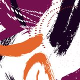 abrégez le fond Texture orange violette de peinture d'automne d'aquarelle Décoration de bannière d'abrégé sur marine d'Acrylyc co Photo libre de droits