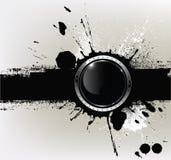 Abrégez le fond texturisé avec a avec le glo rond Photographie stock libre de droits
