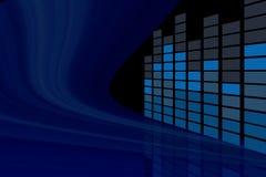 Abrégez le palonnier de musique dans la vue de point de vue images stock