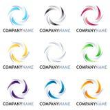 Abrégez le positionnement de conception de logo Images libres de droits