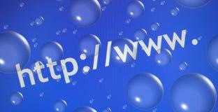 Abrégez le Web parcourant   Photographie stock
