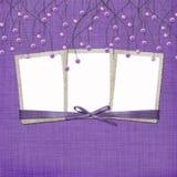 abrégez les programmes de fond a suspendu la violette illustration de vecteur