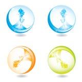 Abrégez les sphères liquides d'éclaboussure Photos stock