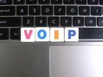 Abréviation VOIP sur le fond de clavier Photos libres de droits