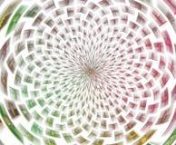 Abr?gez la composition de fractale Étoile magique d'explosion avec des particules, illustration de mouvement illustration de vecteur