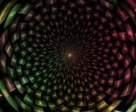 Abr?gez la composition de fractale Étoile magique d'explosion avec des particules, illustration de mouvement illustration stock